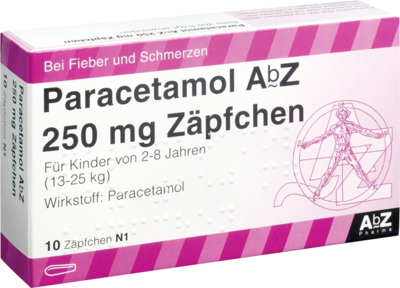 Paracetamol Abz 250 Mg Zaepfchen (PZN 02058630)