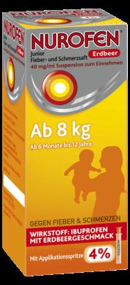 Nurofen Junior Fieber- & Schmerzsaft Erdbeer 40mg pro ml (PZN 07776471)