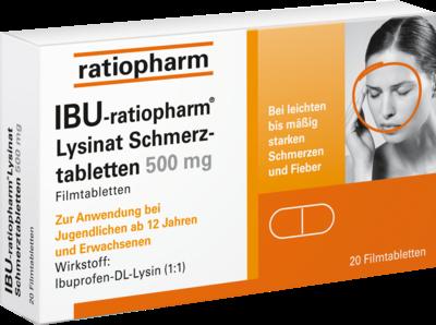 IBU-ratiopharm Lysinat Schmerztabletten 500mg (PZN 01224115)