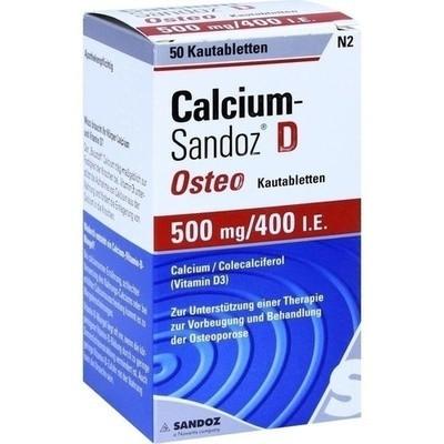 Calcium Sandoz D Osteo 500 mg/400 I.E. Kau (PZN 02227788)