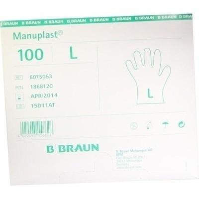 Manuplast Einmal Handschuhe Gross, Hell (PZN 01868120)