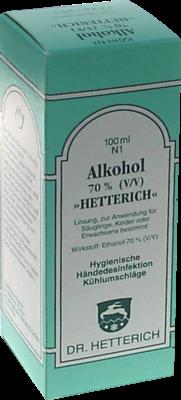 Alkohol 70 Vol % Hetterich (PZN 04769677)