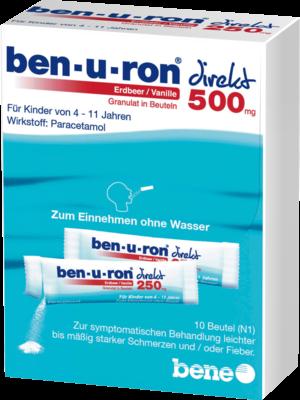 Ben-u-ron Direkt 500 Mg Granulat Erdbeer/vanille (PZN 07728495)