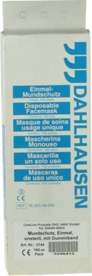 Mundschutz Papiervlies Weiss M.gummibaender (PZN 01046412)