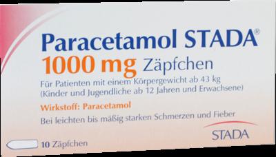 Paracetamol Stada 1.000 mg Zäpfchen (PZN 07368140)