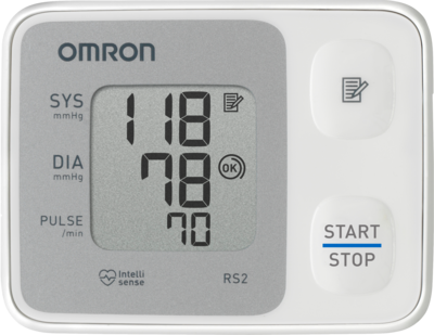 Omron Rs2 Handgelenk Blutdruckmessgerät Vollautom. (PZN 01476182)