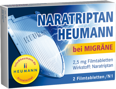 Naratriptan Heumann bei Migräne 2,5mg (PZN 09542263)