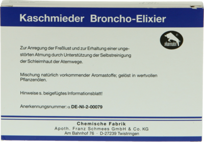 Kaschmieder Broncho Elixier Vet. (PZN 04073042)