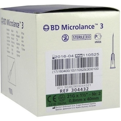Bd Microlance Kanuele 21 g 1 1/2 0,8x40mm (PZN 03086930)