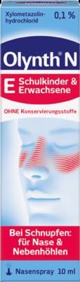 Olynth 0,1 % Schnupfenspray ohne Konservierungsmittel (PZN 01014470)