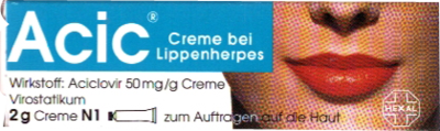 Acic Creme bei Lippenherpes (PZN 08654310)